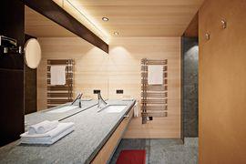 """Badezimmer im Doppelzimmer """"Naturkraft"""" - Wellnesshotel Warther Hof"""