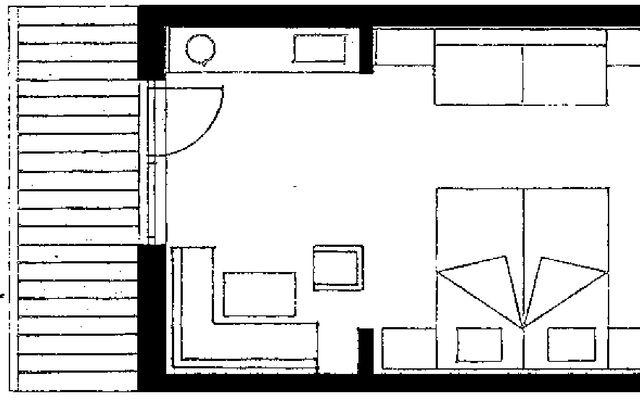 """Einzelzimmer """"FELDERN"""" ohne Balkon 2/2"""