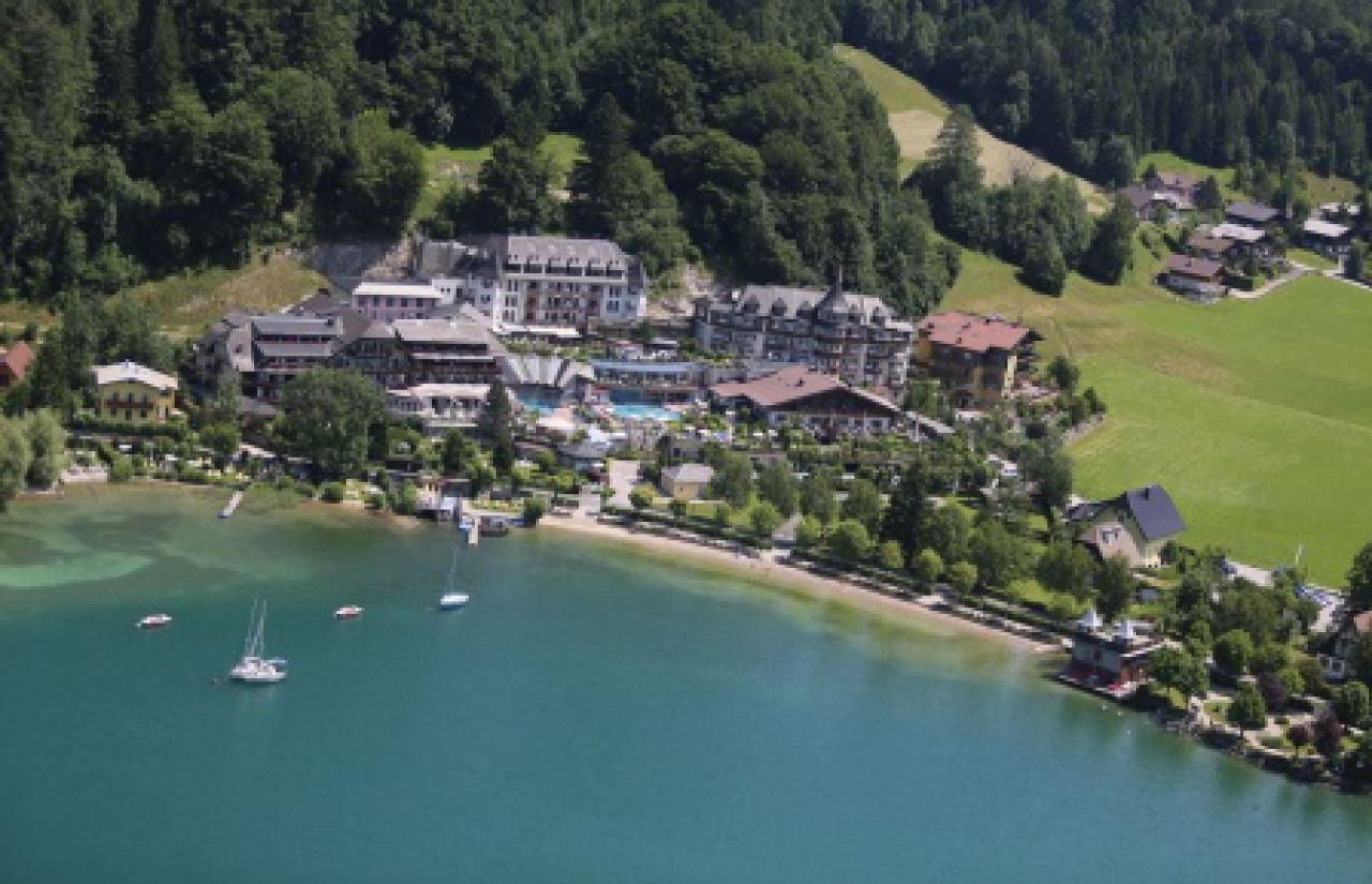 Ebner's Waldhof am See aus der Luft