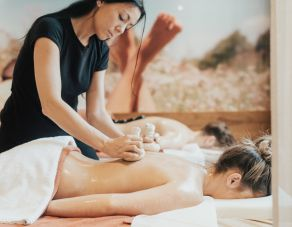 Allgäu herbal compress partial massage