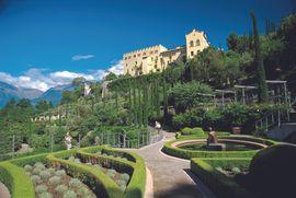 Botanische Gärten von Schloss Trauttmansdorff in der Kurstadt Meran/ Südtirol