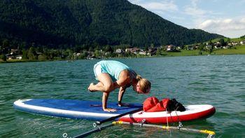 SUP.Yoga.MEL© mit Frau Marion Grimm-Rautenberg und Ihrer Schwester Taina Nacke-Langenstein