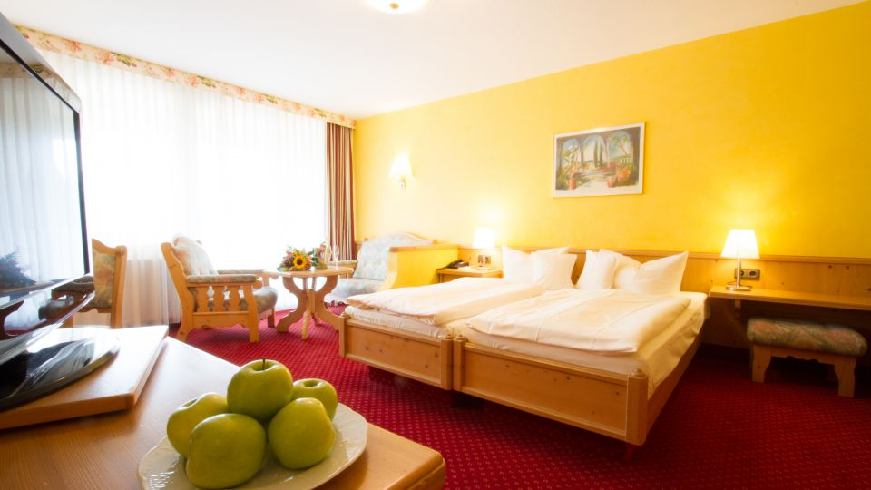 fruits in the cozy double room at pfalzblick