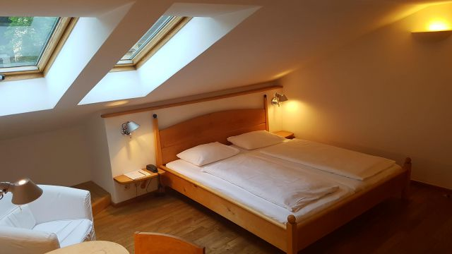 Double bedroom with sloping ceilings