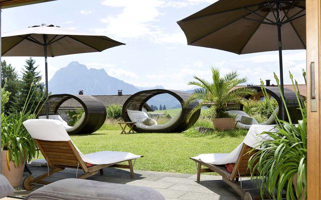 Biohotel Eggensberger: Wellnessruhe-Raum mit Ausblick auf Berge
