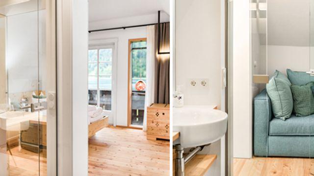 Suite mit Balkon und Seeblick sowie Panoramafenster und Seeblick Nr. 8