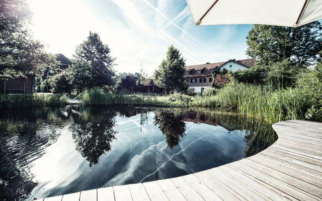 Biohotel & Schlossgut Oberambach: Natur-Badeteich