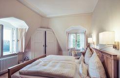 Camera doppia naturalmente sana con vista giardino garden (2/10) - Schlossgut Oberambach