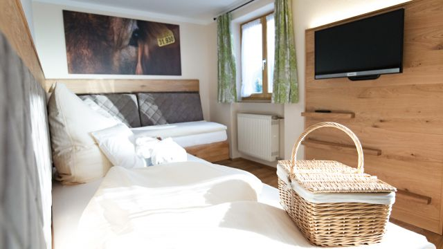 Zweibettzimmer Minze mit Südterrasse