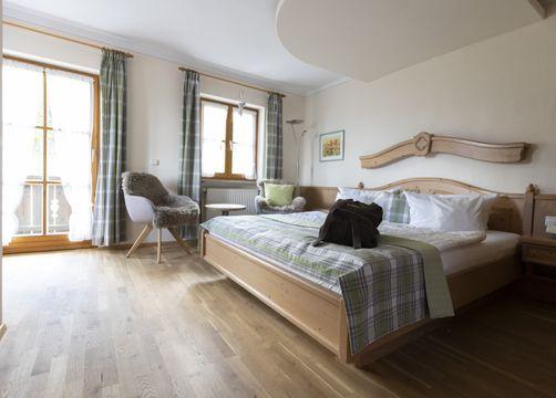 "Organic Romantic Double Room ""Lavender"" South (1/3) - moor&mehr Bio-Kurhotel"