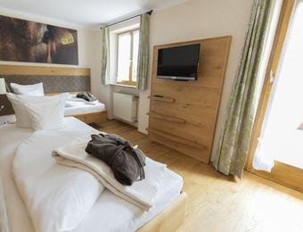 Zweibettzimmer Minze mit Südterrasse - moor&mehr Bio-Kurhotel