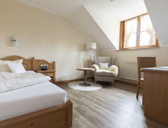 Komfort-Einzelzimmer Holunder ohne Balkon - moor&mehr Bio-Kurhotel