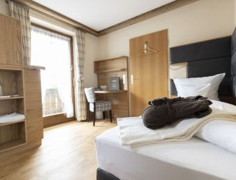 Einzelzimmer Minze mit Balkon - moor&mehr Bio-Kurhotel