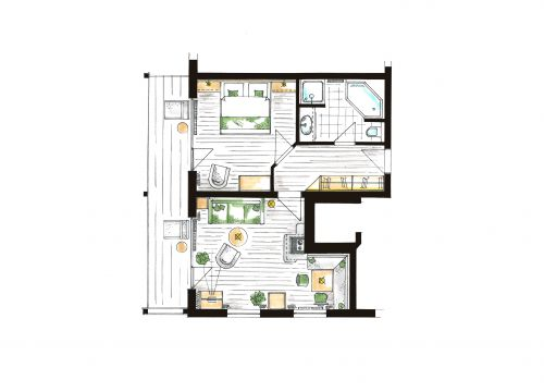 "Comfort Suite ""Bergkristall"" 6/6"