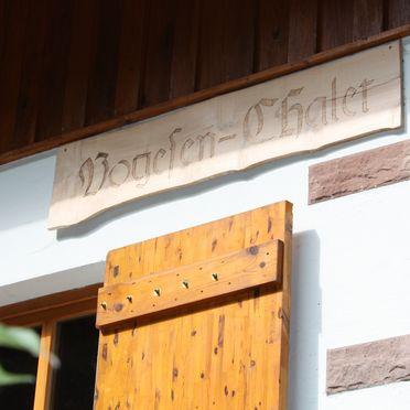 Sommer, Vogesen-Chalet in Puberg, Elsass, Elsass, Frankreich