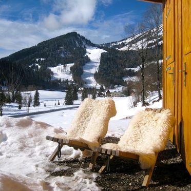 Blick auf das Skigebiet, Oberholzerhütte, Unken, Salzburg, Salzburg, Österreich