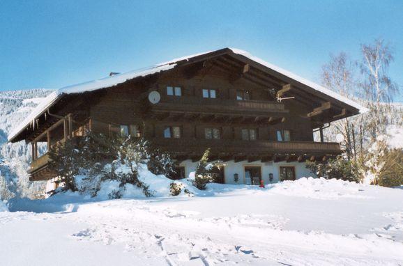 Frontansicht, Haus Rösslhof in Goldegg, Salzburg, Salzburg, Österreich