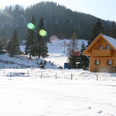Frontansicht1, Hüttendorf Flattnitz - Typ B in Glödnitz, Kärnten, Kärnten, Österreich