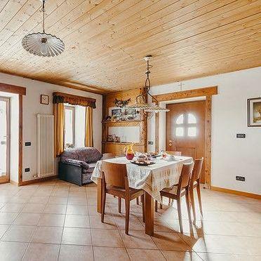 living room, Maso Alice in Cinte Tesino, Trentino, Alto Adige, Italy