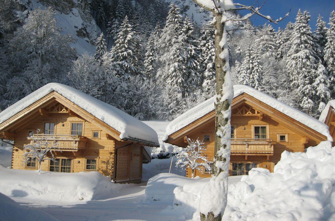 Achenseer Hüttendörfl, Winter