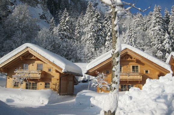 Winter, Achenseer Hüttendörfl in Maurach am Achensee, Tirol, Tirol, Österreich
