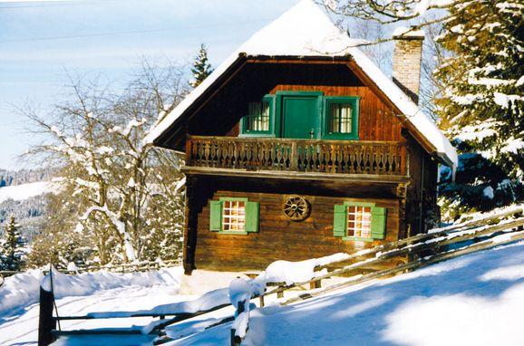 Winter, Reinhoferhütte in St. Gertraud, Kärnten, Kärnten, Österreich