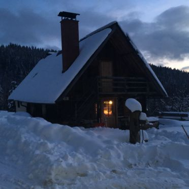 Winter, Jagerhütte, St. Gertraud, Kärnten, Kärnten, Österreich