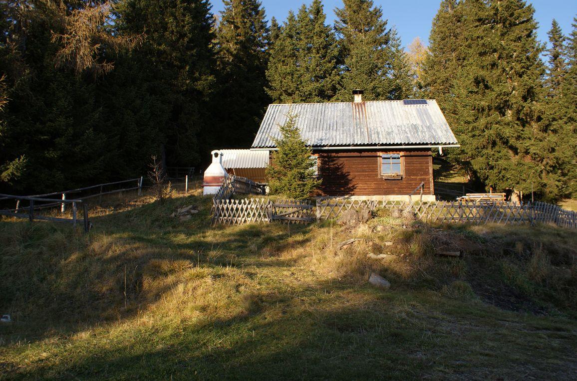 Zirbenwaldhütte, Frontansicht1