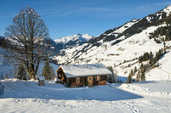 Winter, Hungarhub Hütte, Großarl, Salzburg, Salzburg, Österreich