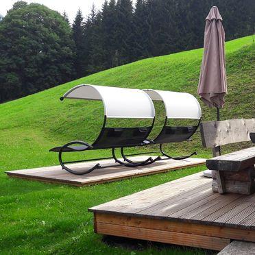 Terrasse, Druckfeichter Hütte in Pruggern, Steiermark, Steiermark, Österreich