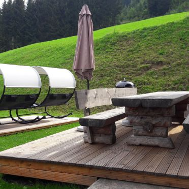 Terrasse, Druckfeichter Hütte, Pruggern, Steiermark, Steiermark, Österreich