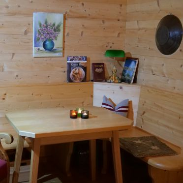 Goldwäscherhütte, eating area