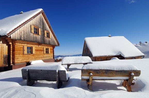 Winter, Almhütten Moselebauer, Bad St. Leonhard, Kärnten, Kärnten, Österreich