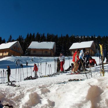 Winter - direkte Lage an der Skipiste, Almhütten Moselebauer in Bad St. Leonhard, Kärnten, Kärnten, Österreich