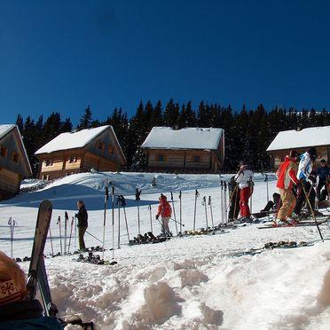 Winter - direkte Lage an der Skipiste, Almhütten Moselebauer, Bad St. Leonhard, Kärnten, Kärnten, Österreich