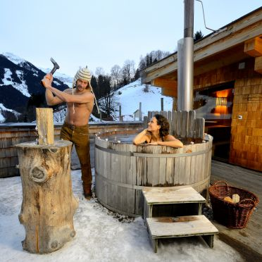 Hot Pot, Bachgut Chalet 1-3, Saalbach-Hinterglemm, Salzburg, Salzburg, Österreich