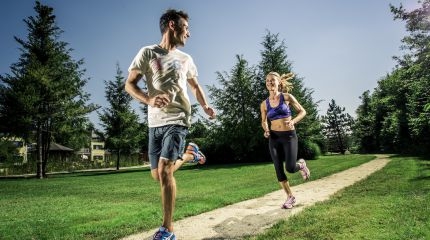 Outdoor Fitness Parcours of the Hotel Gmachl