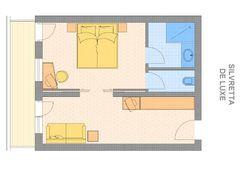 """Grundriss Doppelzimmer """"Silvretta de Luxe"""""""