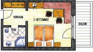Standardzimmer Inntal 3/3