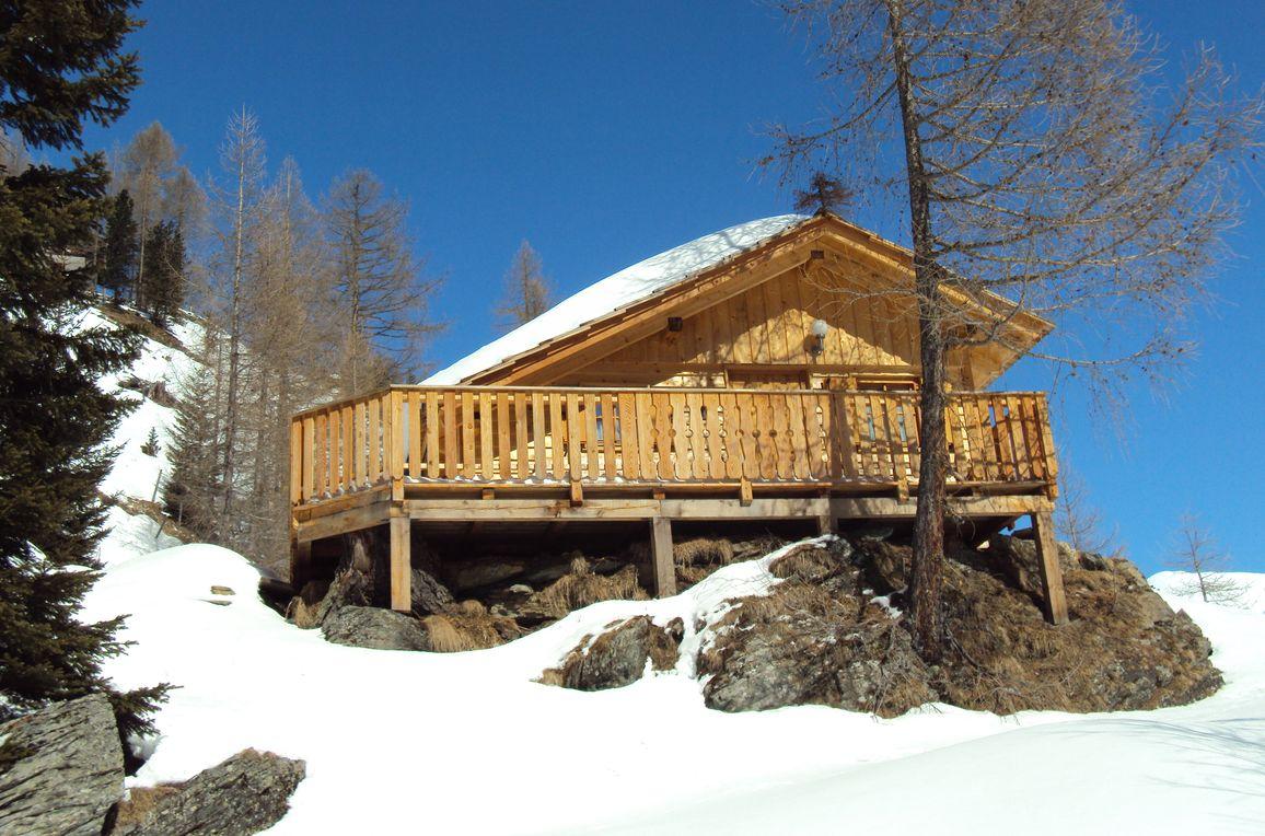 Almwiesenhütte, Winter