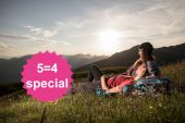 MountainLOVE 5=4 special | stay 5 nights, pay 4 when arriving on Sunday