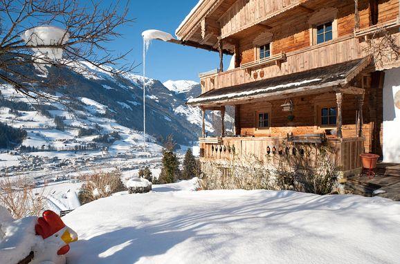 Winter, Bergchalet Klausner Enzian in Ramsau im Zillertal, Tirol, Tirol, Österreich