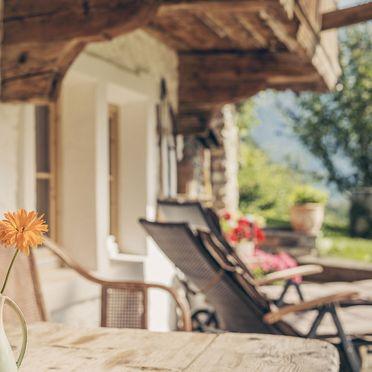 terrace detail, Bergchalet Klausner Enzian, Ramsau im Zillertal, Tirol, Tyrol, Austria