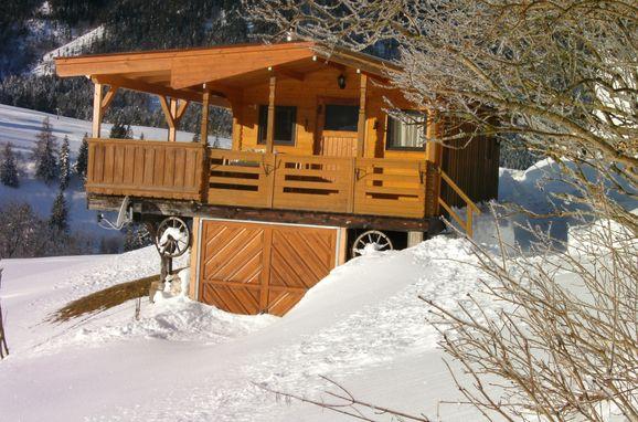 Winter, Blockhütte Mühlegg in Steinberg am Rofan, Tirol, Tyrol, Austria