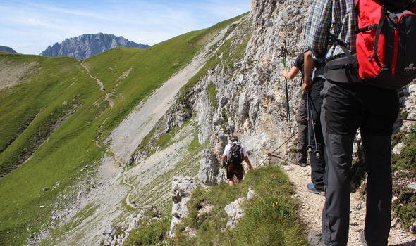 Mountain hiking and wellness