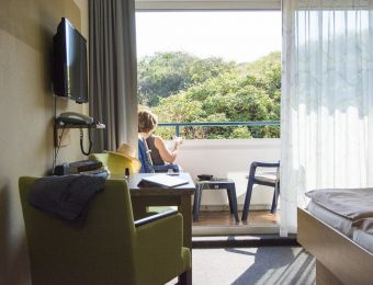 Organic double room with balcony, first floor - Biohotel Strandeck