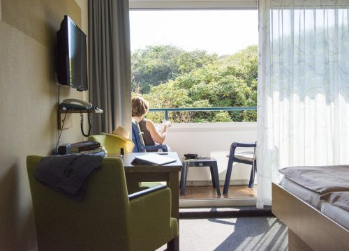 Organic double room with balcony, first floor (1/3) - Biohotel Strandeck