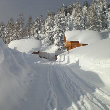 Holzwurmhütte, Winter - Zufahrt