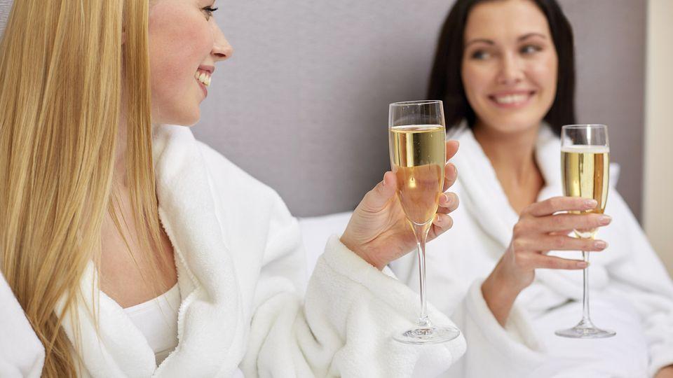 Romantisches Bad zu zweit