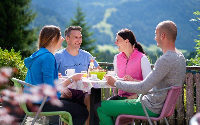 Frühstücksgenuss auf der Terrasse